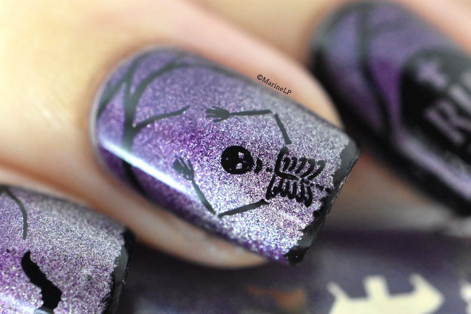 Zombie Nails Designs