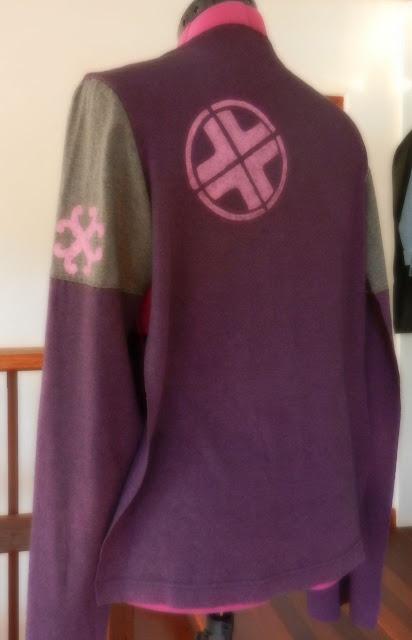 stencilling on a refashioned pullover