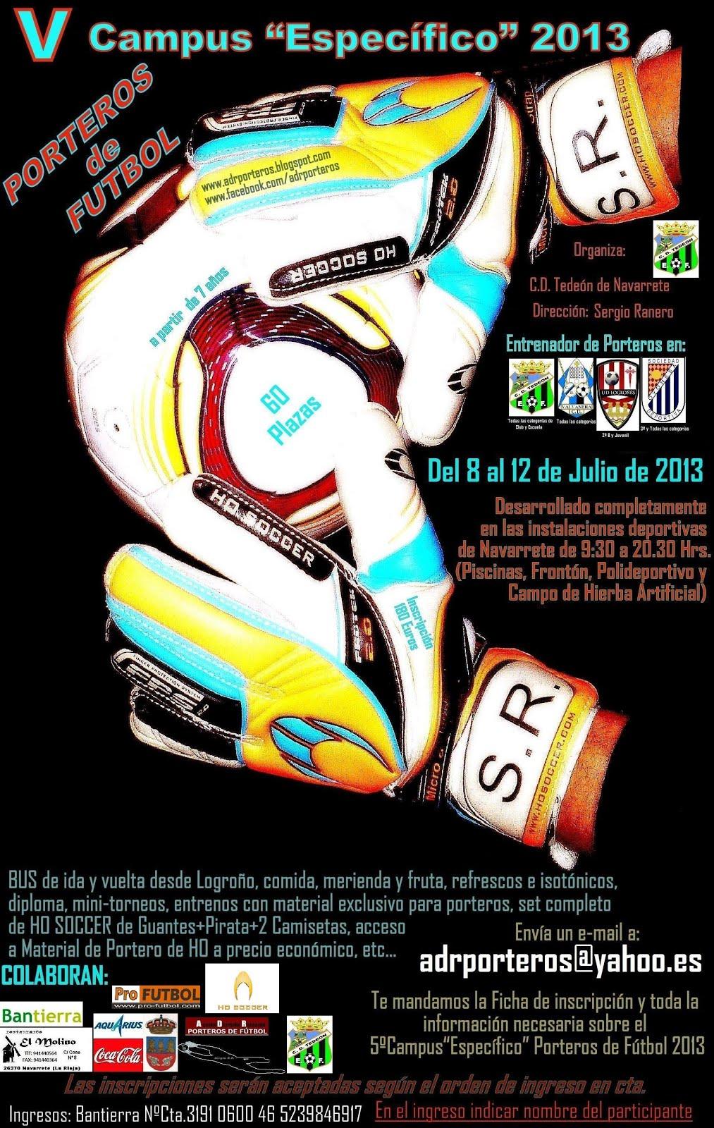 5ºCampus PORTEROS DE FUTBOL 2013
