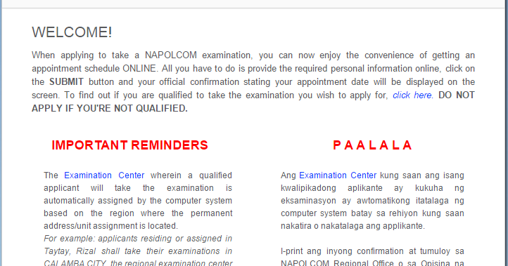 Napolcom 2016 Online Exam Application System Bazics Net
