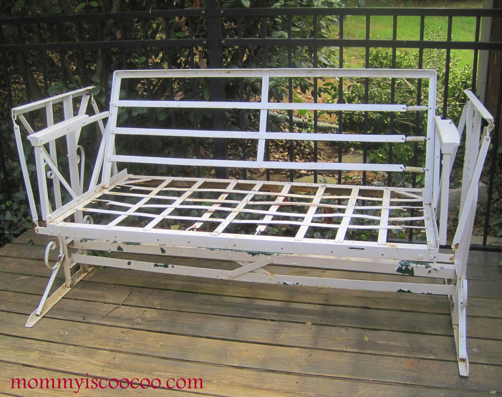 Antique Metal Glider Sofa Modern Sofas Porch