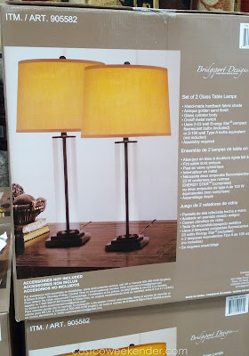 Bridgeport Designs Glass Cylinder Table Lamps give a modern look to your living room