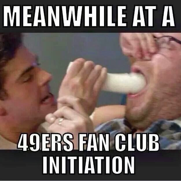 meanwhile at a 49ers fan club initiation