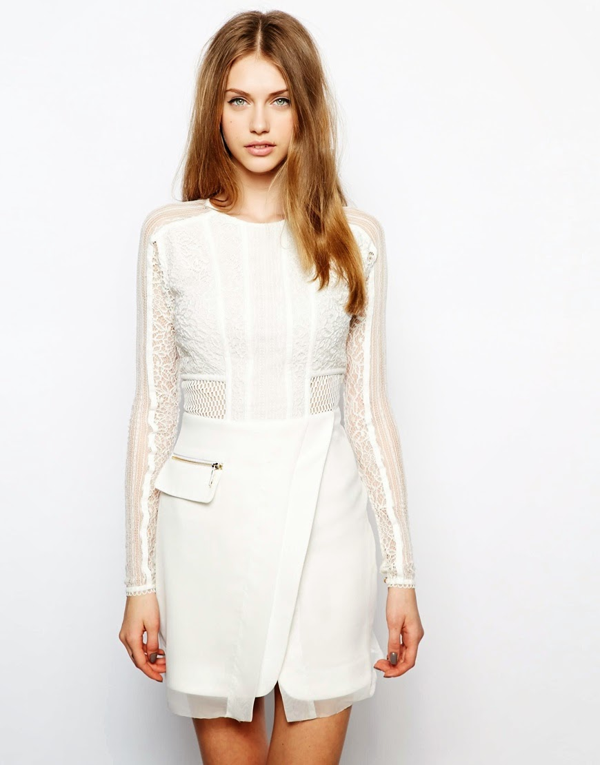 three floor white dress