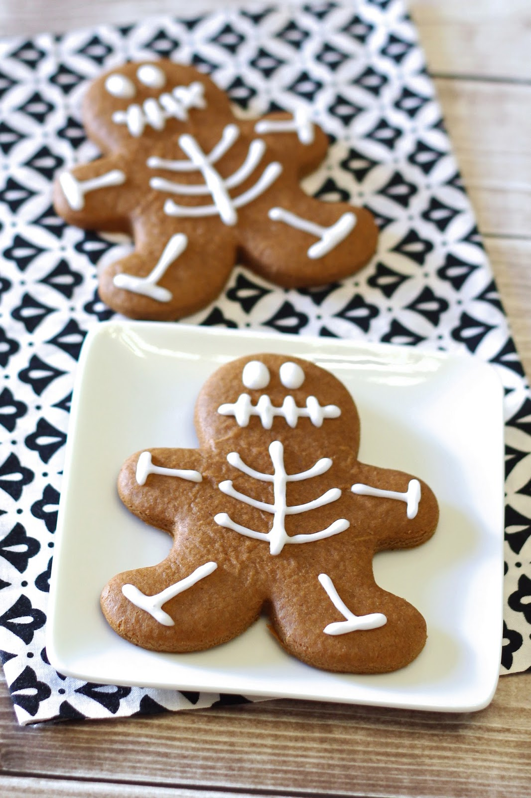 gluten-free vegan gingerbread skeleton cookies