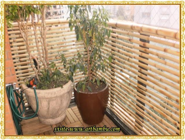 cerca de madeira para jardim passo a passo:Artbambu e palha: Cerca de bambu cana da índia tratada