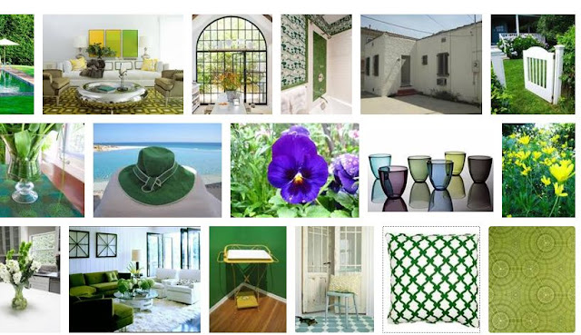 Nbaynadamas summer style board with a focus on shades of green