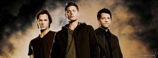 Sam, Dean e Castiel, Sobrenatural - Capas para Facebook