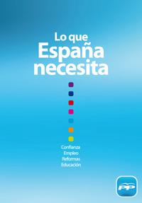 Programa electoral elecciones generales 2011 PP