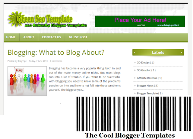 Green SEO Blogger Template
