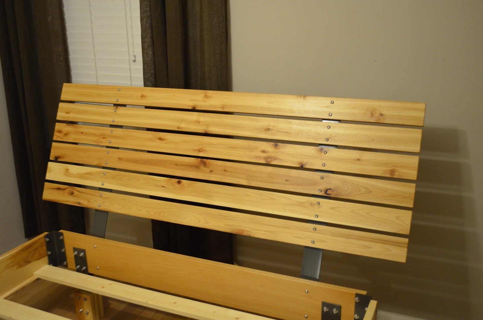 Fabitecture Wood Slat Headboard And Bed Frame