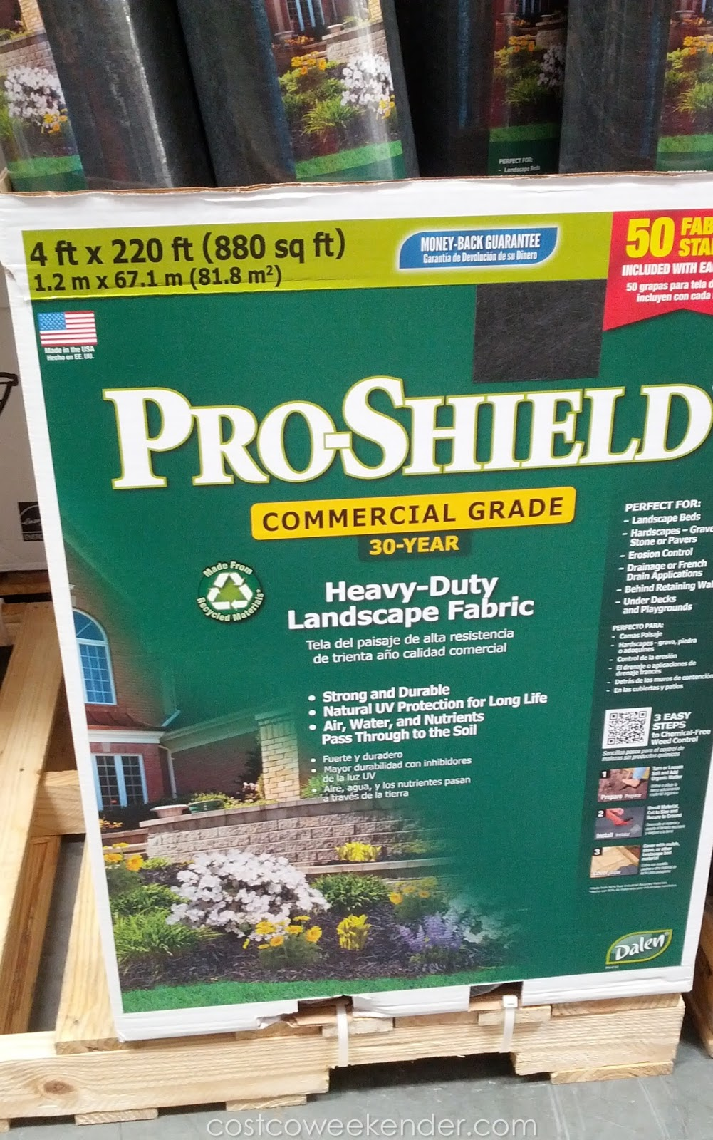 dalen pro shield heavy duty landscape fabric costco weekender