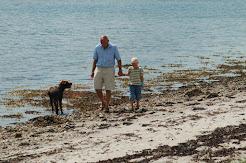 family on beach, Kaloe