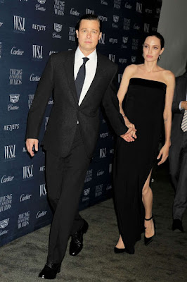 Angelina Jolie and Brad Pitt at the WSJ Innovator Awards 2015