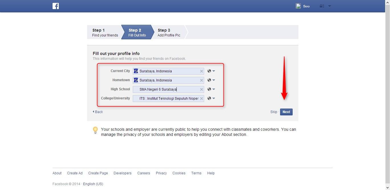Cara Membuat Facebook 3