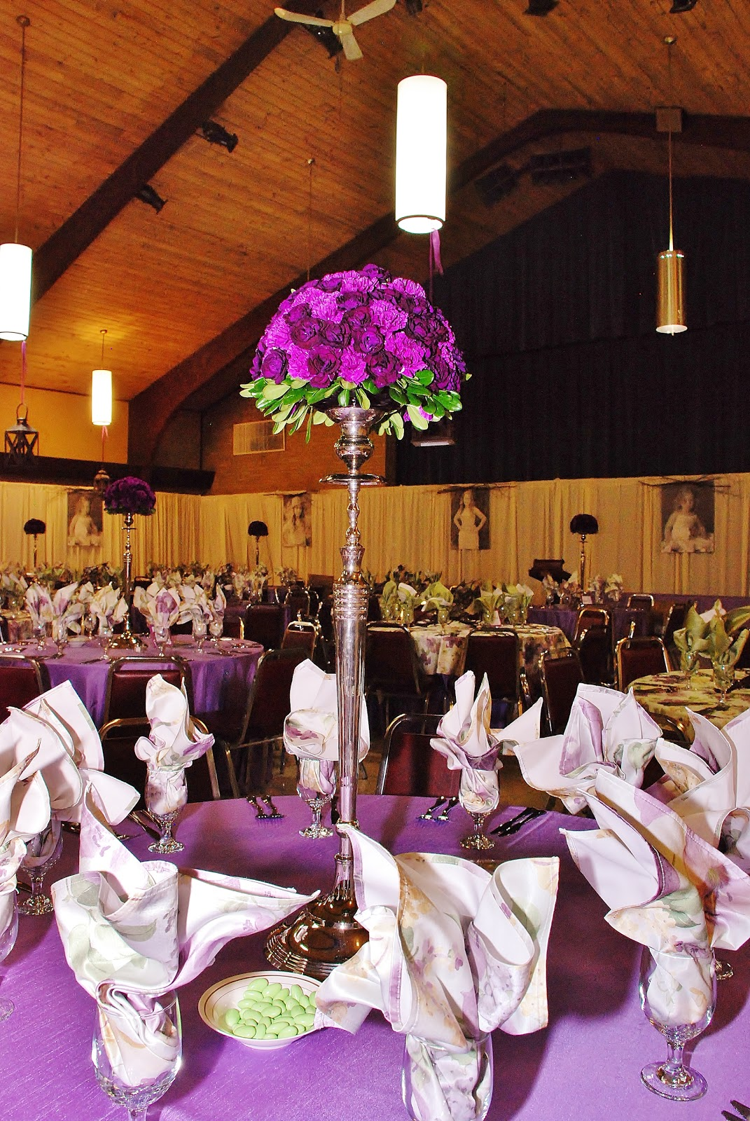 purple garden party | setting the mood