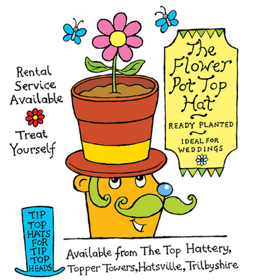 Hat advertisement from Happy Hat Day, an illustrated children's ebook