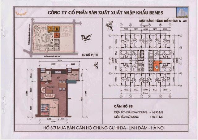 Căn hộ 38 - Chung Cư HH3A Linh Đàm