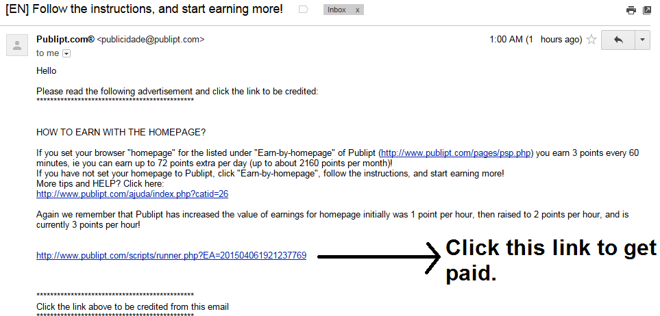 Get paid to check e-mails | Publipt