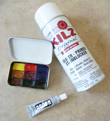 Travel watercolor box