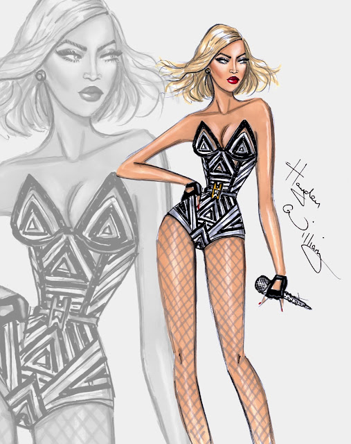Happy Birthday Beyoncé - Fashion Illustration by Hayden Williams