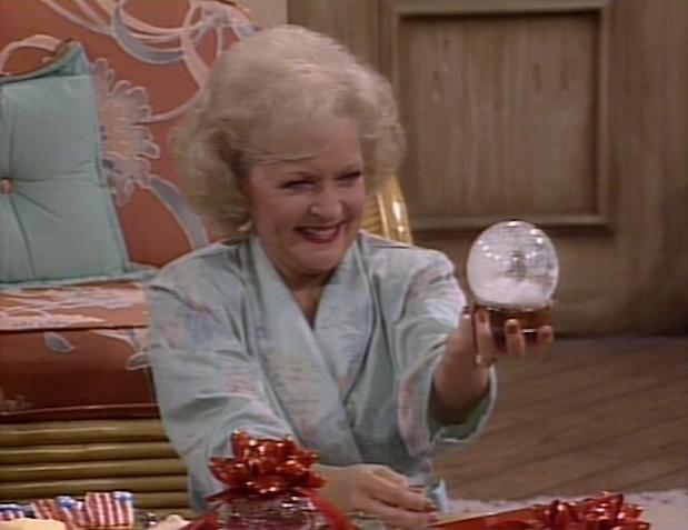 Christmas Tv History Betty White Golden Girls Christmas