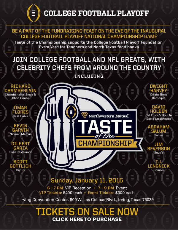 Details on Taste of the Championship, college football playoff parties