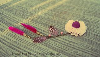 bros bulu cantik, feather brooch