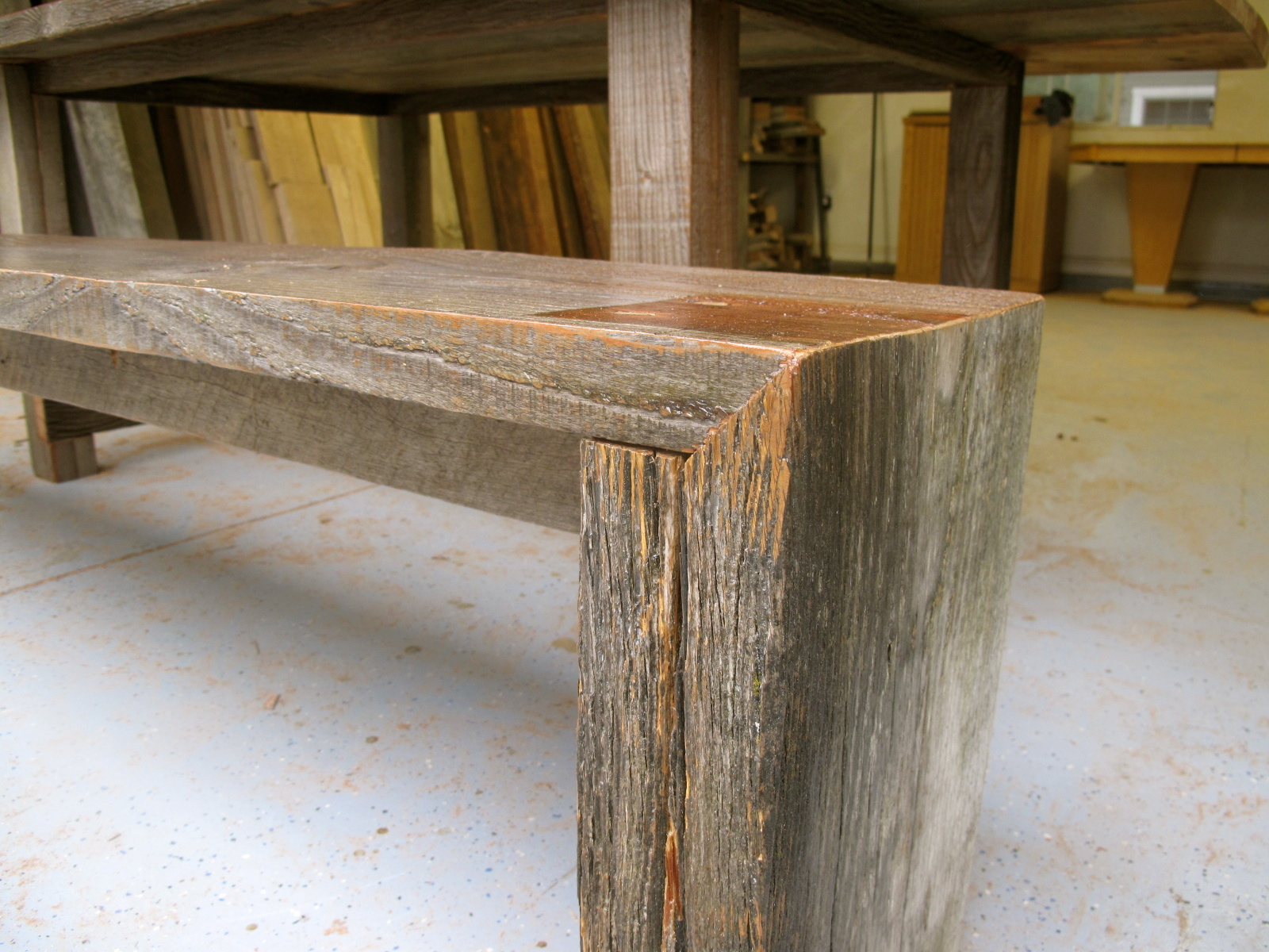 Arbor Exchange Reclaimed Wood Furniture Silver Weathered Outdoor Table Bench