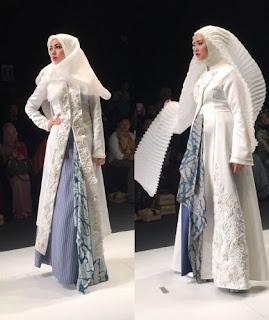 Foto Kebaya Kutubaru Muslim Modern Hijab Bervolume untuk Muslimah  Trend Terbaru