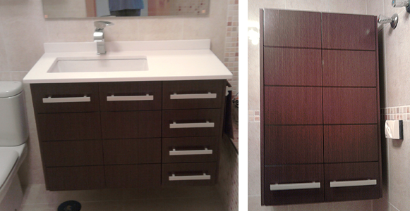 Muebles de madera para cuartos de ba o ba era por ducha - Muebles bano carrefour ...