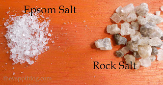 The difference between rock salt and epsom salt.