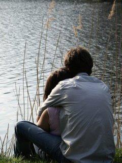 Hugging closes the door to hate. Kissing opens the door to love