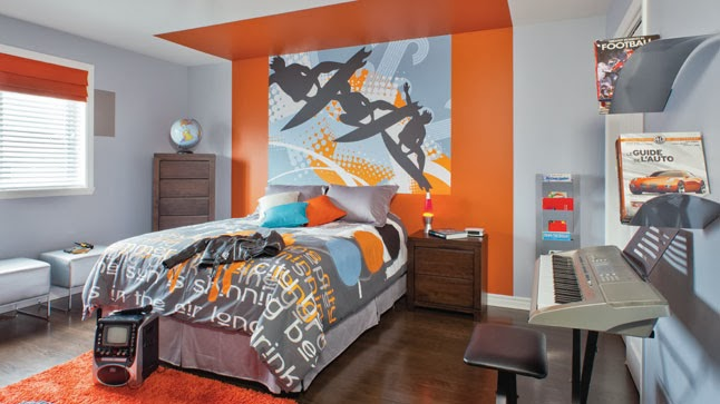 Decoraci n de dormitorios tem ticos juveniles for Dormitorio naranja