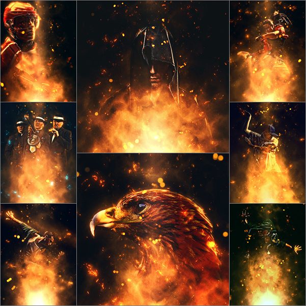 اكشنات فوتوشوب | اشتعال النار 2015 جميل جداً