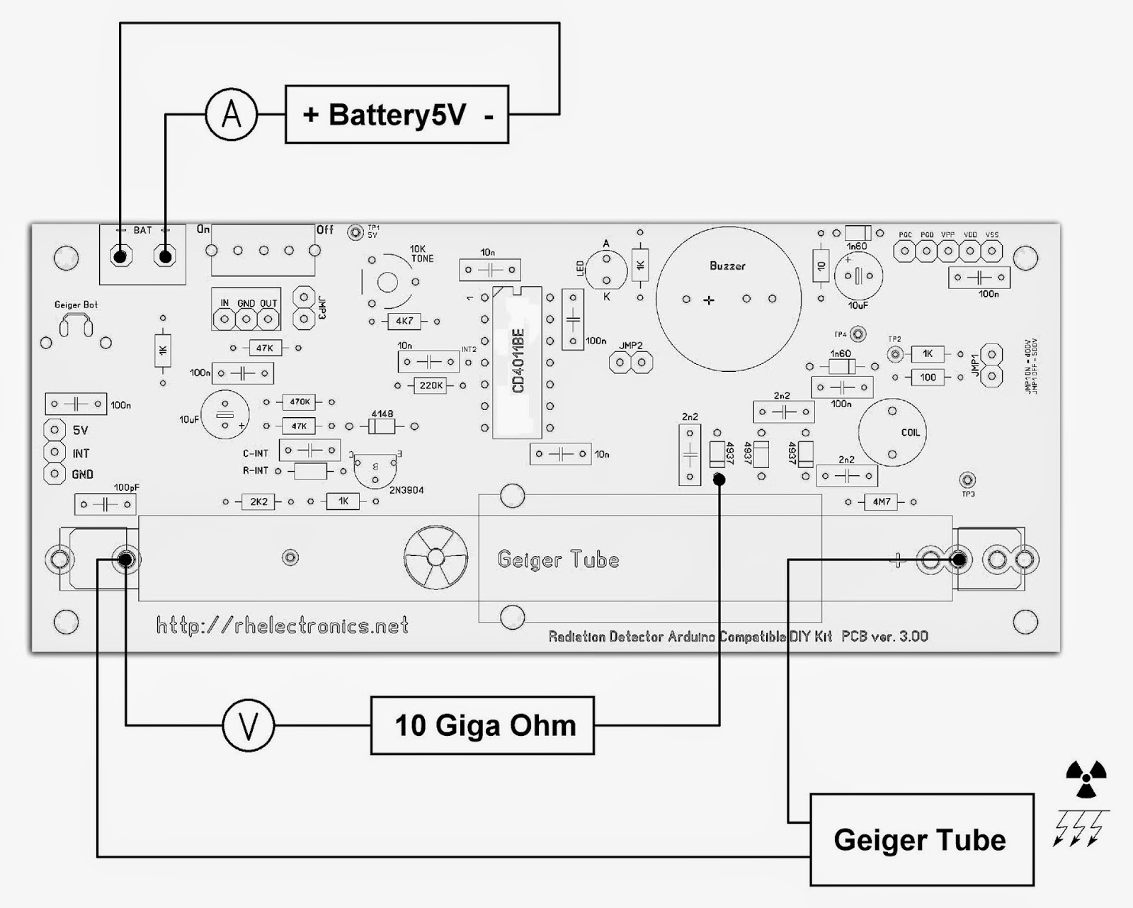 Diy Electronics 2014 Geiger Counter Wiring Diagram High Speed Count Under This Condition Is Identical To 1200usv H Gamma Radiation Load Or At Least It Simulates Extremely Conditions