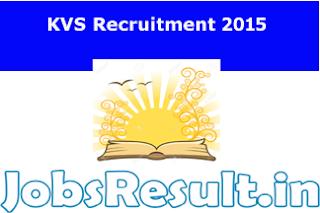 KVS Recruitment 2015