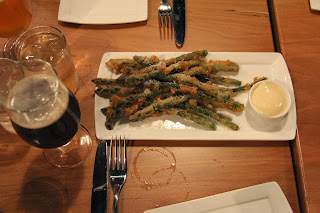 Asparagus fries with yummy smoked mayo at Hunger n Thirst
