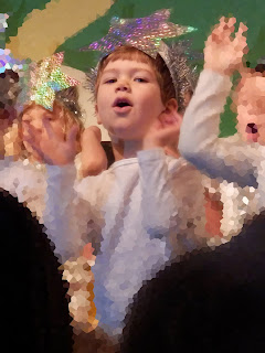 My grandson on stage