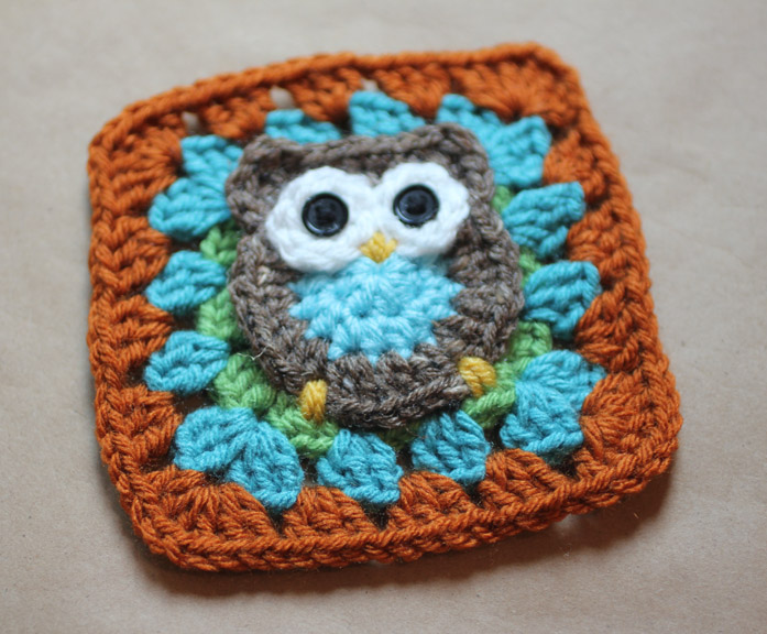 ... : Repeat Crafter Me — Owl Granny Square Pattern - Petals to Picots