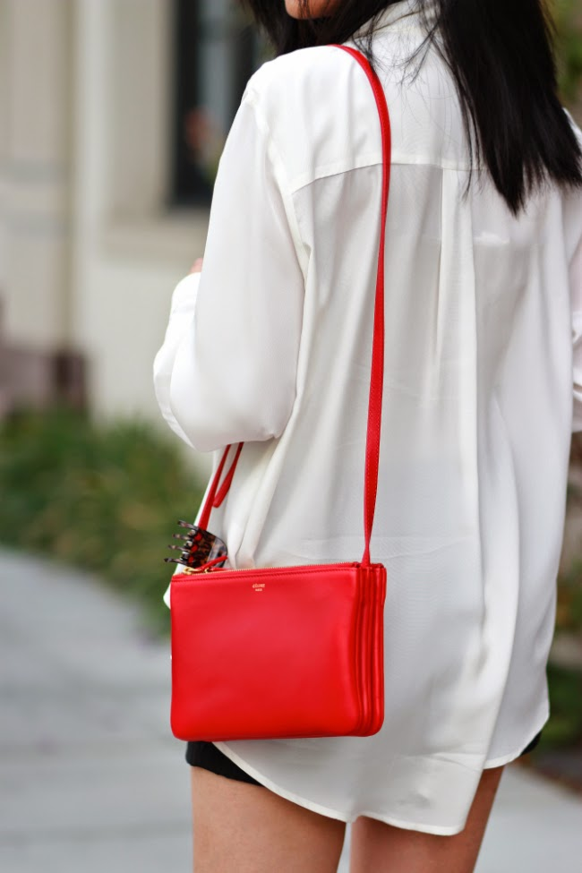 red celine trio price regular small large bag