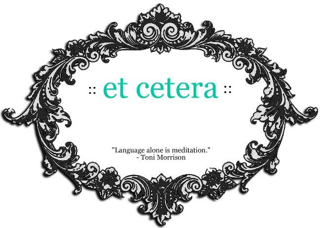 {et cetera}