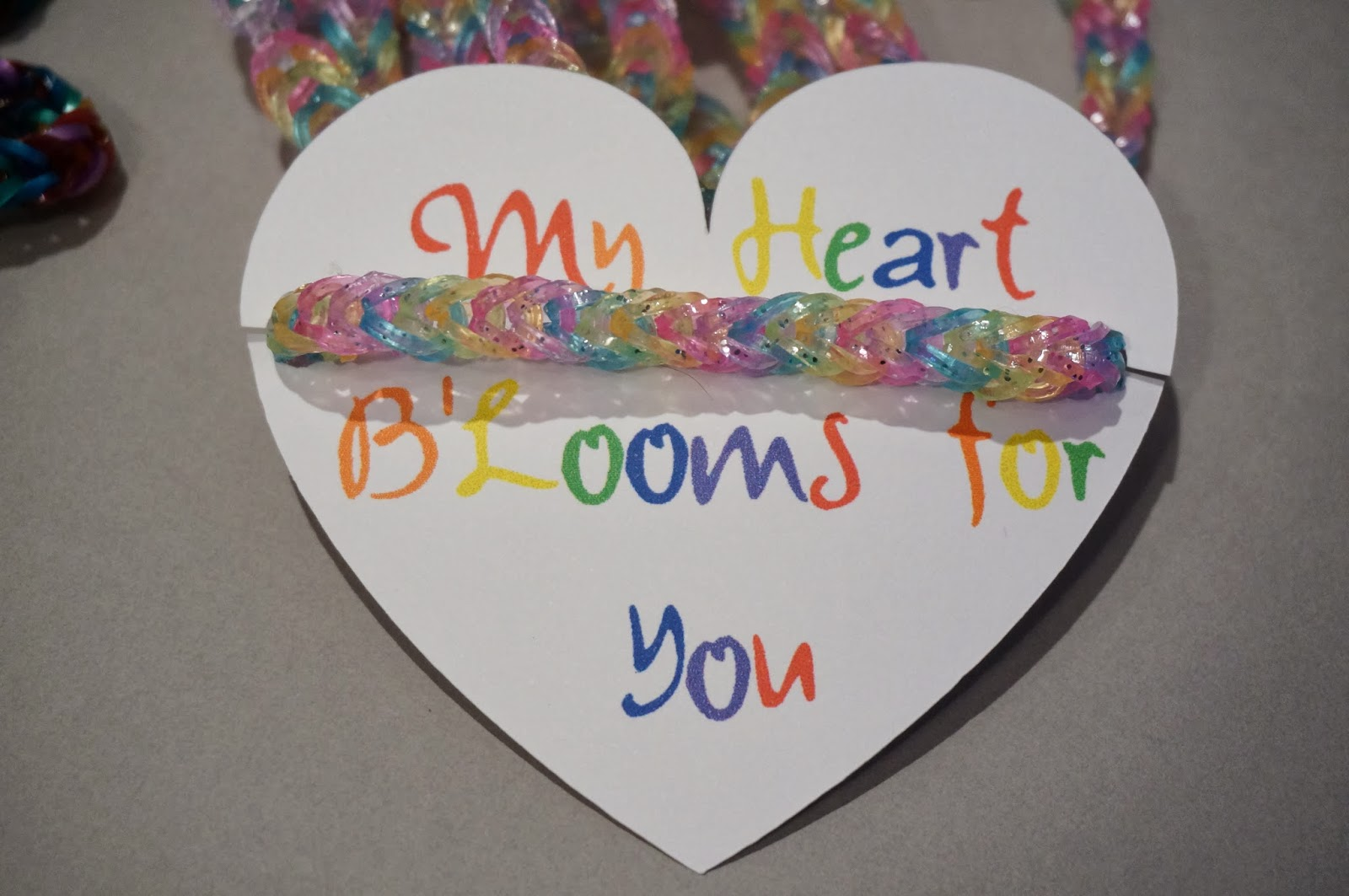 My Heart B'Looms For You school Valentine