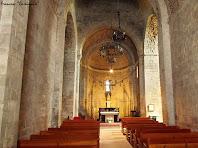 """Interior de la nau principal de l'església de L'Estany. Autor: Francesc """"Caminaire"""""""