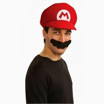 Gorra y Bigote de Mario Bros