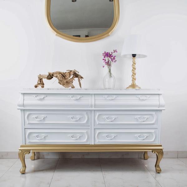 Comoda poco fondo decorar tu casa es - Comodas antiguas blancas ...