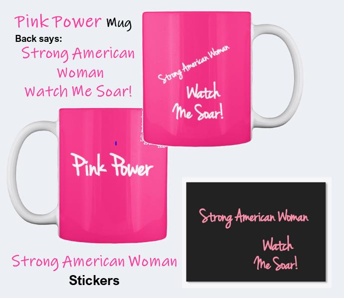 Strong American Woman Mugs