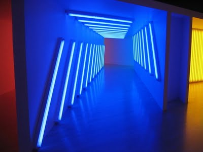 He Used Fluorescent Tubes To Explore Light Colour And Space Placed Different Coloured In A Certain Way So That The Colours Of Emitted