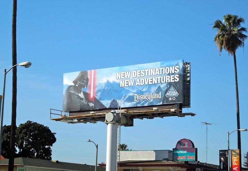 Star Tours Disneyland billboard