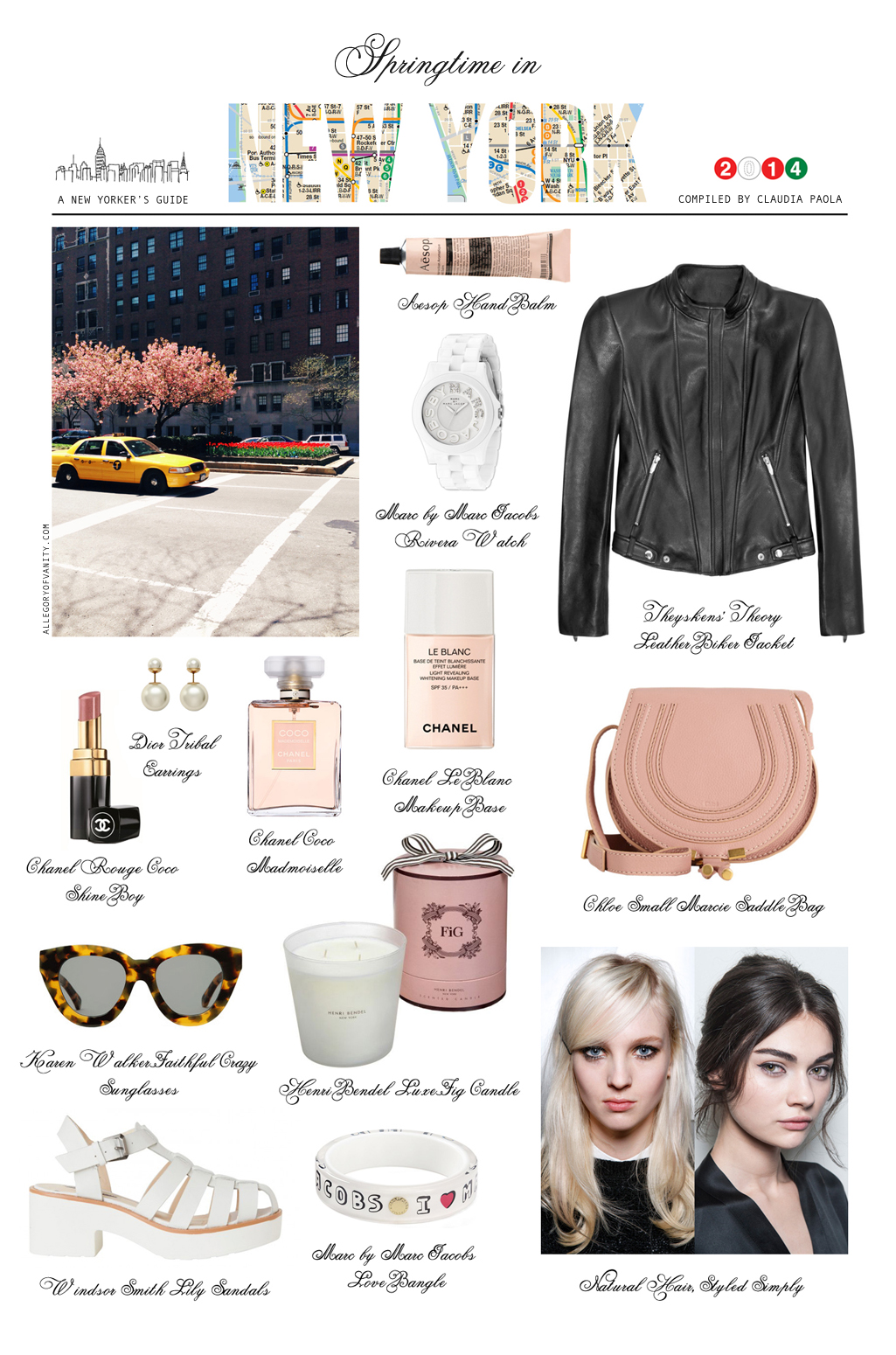 List of Springtime Essentials: NYC Personal Style Guide | Allegory of Vanity